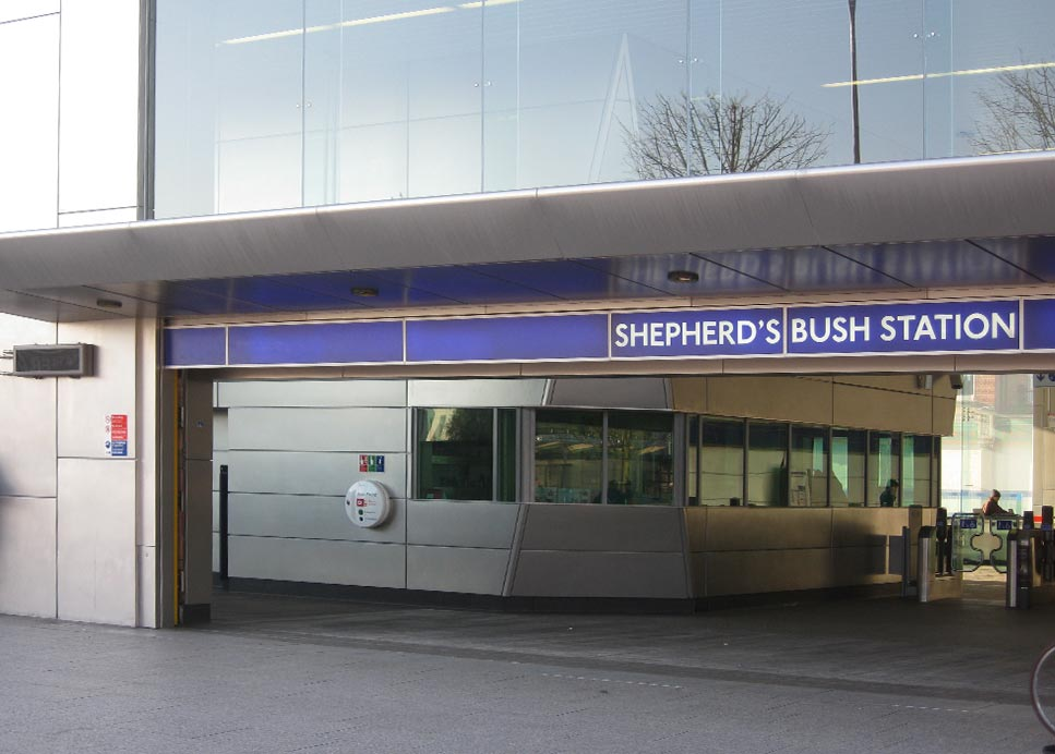 SHEPHERDS BUSH UNDERGROUND - UK – GRANEX M1A FINISH